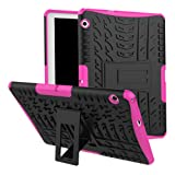 Huawei MediaPad T3 10 Case, Huawei MediaPad T3 10 Hybrid Case, Dual Layer Shockproof Hybrid Rugged Case Hard Shell Cover with Kickstand for 9.6'' Huawei MediaPad T3 10 (Color: Rose)
