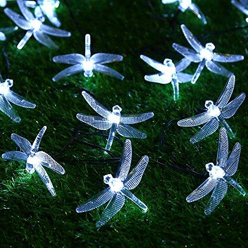 Dragonfly String Lights Outdoor : Solar Outdoor String Lights by ApexPower, 8 Modes 20LED Dragonfly Waterproof eBay