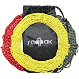 Raqpak Reflective Cord 100 Feet Long Tent Guyline Rope with Carry Pouch (Yellow)