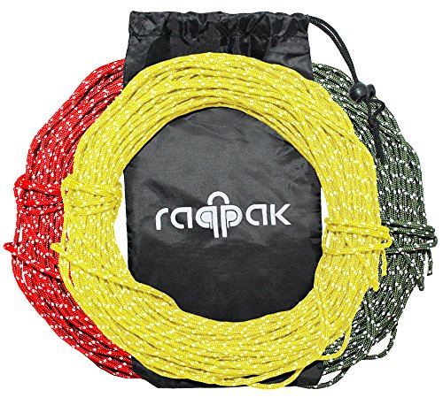 Buy Bargain Raqpak Reflective Cord 100 Feet Long Tent Guyline Rope with Carry Pouch (Yellow)