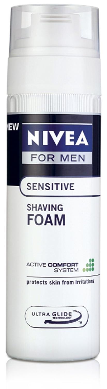 Nivea for Men Sensitive Shaving Foam – 200 ml at rs 107 + 35 shipping at amazon