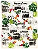 2017年 ジュート カレンダー(レイ) ハワイアン雑貨 ハワイ雑貨 ハワイ お土産