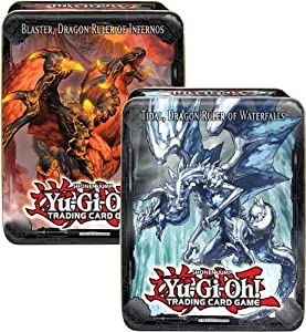 Yugioh 2013 Wave 1 CT10 Collector Tin Set of 2 Blaster, Dragon Ruler of Infernos & Tidal, Dragon Ruler of Water Falls
