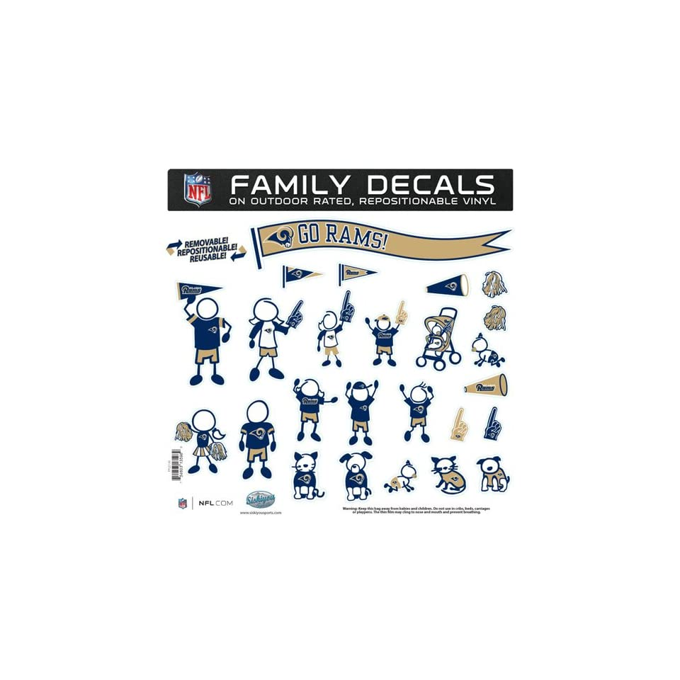 St. Louis Rams Nfl Family Car Decal Set (Large) Sports on PopScreen 37f718dc5