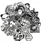 [EMY] 黒白柄 防水 ステッカー シール 車 スーツケース デコレーション ステッカーボム オシャレ ポップアート 60枚セット