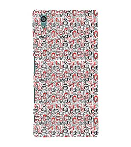 iFasho Modern Theme of colorful Squre inside square and dots Back Case Cover for Sony Xperia Z5