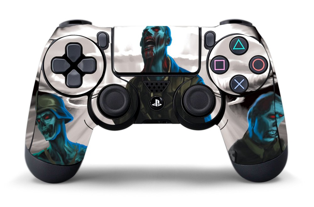 PS4 Controller Designer Skin for Sony PlayStation 4 DualShock Wireless Controller Zombie Trooper 10pcs lot vinyl for star wars ps4 sticker for sony playstation 4 console 2 controller skin sticker for ps4 skin free shipping