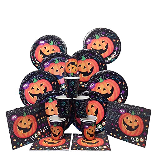 [Party Supplies Halloween Tableware - Halloween Cups, Halloween Plates, and Halloween Napkins (Serves] (Beyblade Halloween Costumes)