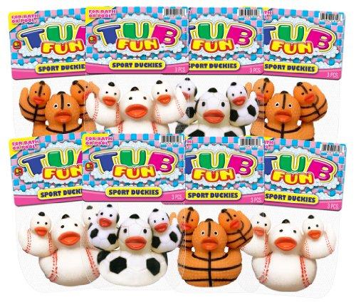 Ja-Ru Tub Fun Sport Duckies Party Favor Bundle Pack front-58921
