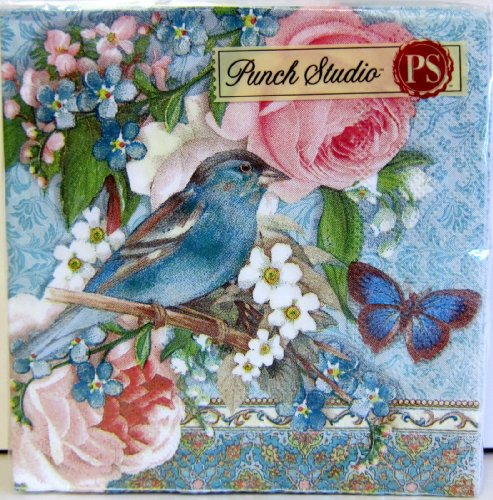 40-ct-punch-studio-boutique-turquoise-bluebird-pink-rose-paper-cocktail-beverage-napkins