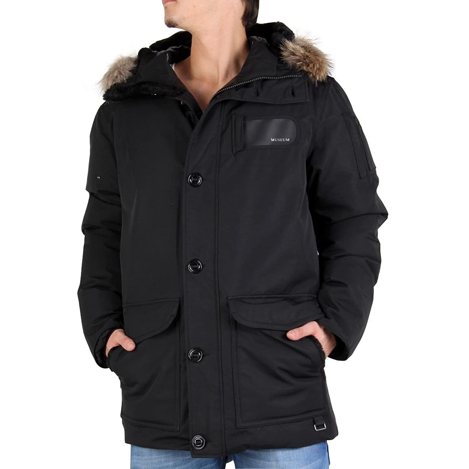 MUSEUM Herren Winter Daunenparka Polar Black 19329