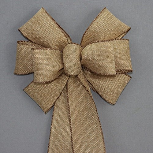 Rustic Fall Burlap Wreath Bow - available in 2 sizes