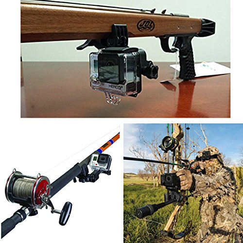 Universal camera clamp mount set oumers fixing clip mount for Gun fishing rod