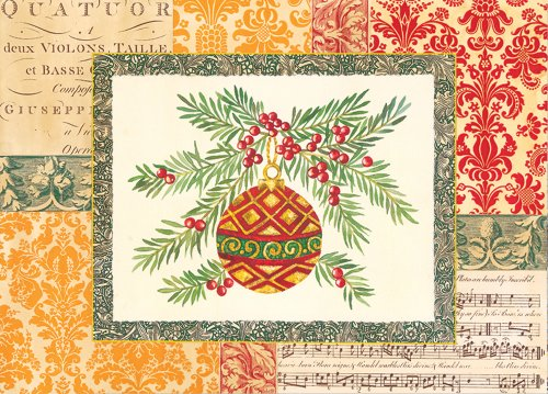 Winterberry Tapestry Ornament Deluxed Boxed Holiday Cards (Christmas Cards, Holiday Cards, Greeting Cards)