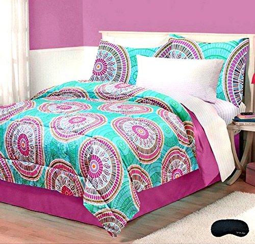 Fabulous Boho Chic Full Queen Comforter Set u Home Style Exclusive Sleep Mask