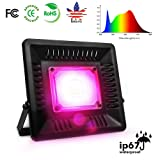 LED Grow Light Full Spectrum, 150W Relassy Waterproof COB LED Grow Light with Natural Heat Dissipation and Without Noise Perfect for Outdoor/Indoor Plants All Growing (Color: black, Tamaño: 150W)