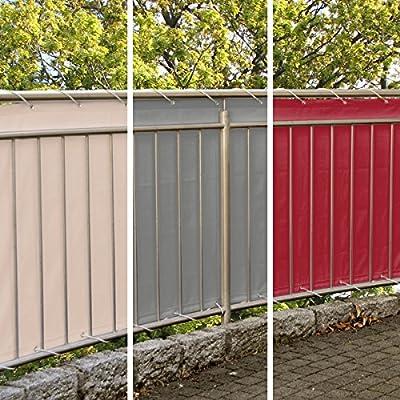 Balkonsichtschutz, Windschutz, Sichtschutz, 600 x 90 cm, Polyester von MW Handelsgesellschaft mbH auf Gartenmöbel von Du und Dein Garten