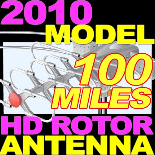 Outdoor TV HDTV DTV Digital Rotor Amplified Antenna