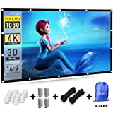 Efnik 7 Projector Screen 120 inch 16:9 HD Foldable Anti-Crease Portable Projecion Screen for Home Theater Support Double Sided Projection