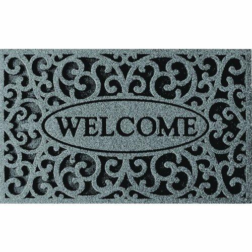 Apache Mills 60-963-1703 Welcome Iron Graphite Door Mat,