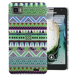 Heartly Aztec Tribal Art Printed Design Retro Color Armor Hard Bumper Back Case Cover For Lenovo IdeaPhone K860 - Nature Green