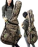 (ラクエスト) Laquest ヘビ皮 蛇 鱗 プリント 防水 背負える アコギ ギグバッグ リュック タイプ 2WAY ソフト ギター ケース アコースティック クラッシック ギター 保護 運搬