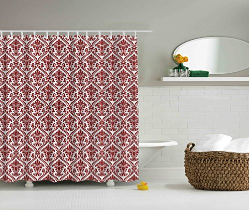 Delicieux Red And White Decorative Damask Victorian Style Creative Special Selection  Home Decoration Modern Bathroom Art Decor Interior Innovational Ideas  Digital ...