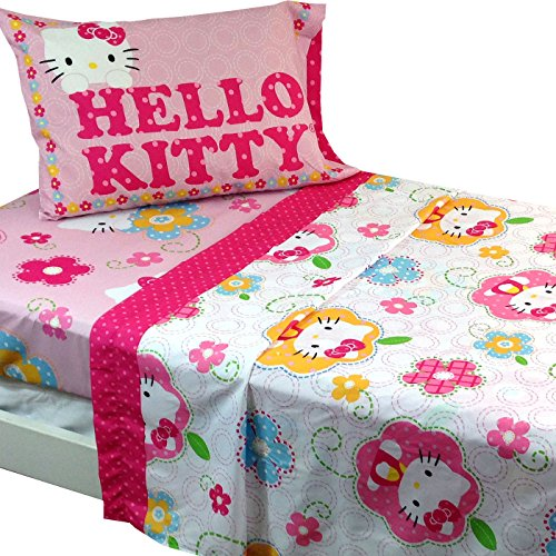 hello kitty twin sheets comforter sets pink bedroom decor