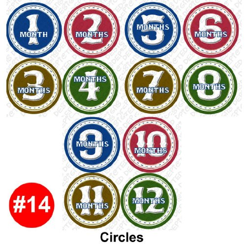 Monthly Infant Stickers - CIRCLES Baby Month Onesie Stickers Baby Shower Gift Photo Shower Stickers, baby shower gift by OnesieStickers - 1