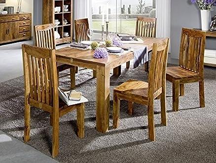 In legno di Acacia massiccio legno miele Möbel 120 x 120 tavolo da pranzo in legno massiccio in legno massiccio Möbel Sciamano #102