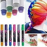 Haarkreide, mit 6 Farben für den Heimgebrauch,...