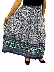 COTTON BREEZE Women's Cotton A-line Skirt