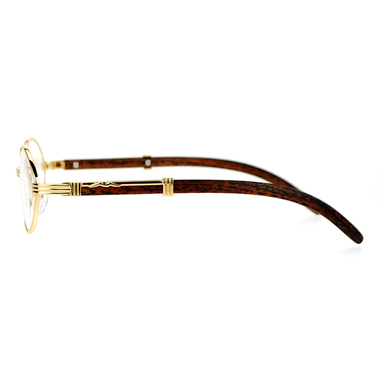 SA106 Art Nouveau Vintage Style Oval Metal Frame Eye Glasses 3