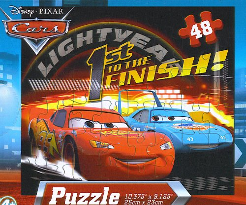 Disney Pixar Cars 48pc Jigsaw Puzzle - (First to the Finish) - 1
