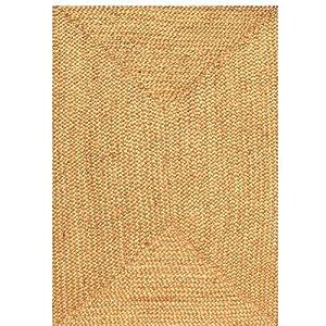 Amazon.com: Jute Natural Rug Rug Size: Round 8': Kitchen & Dining
