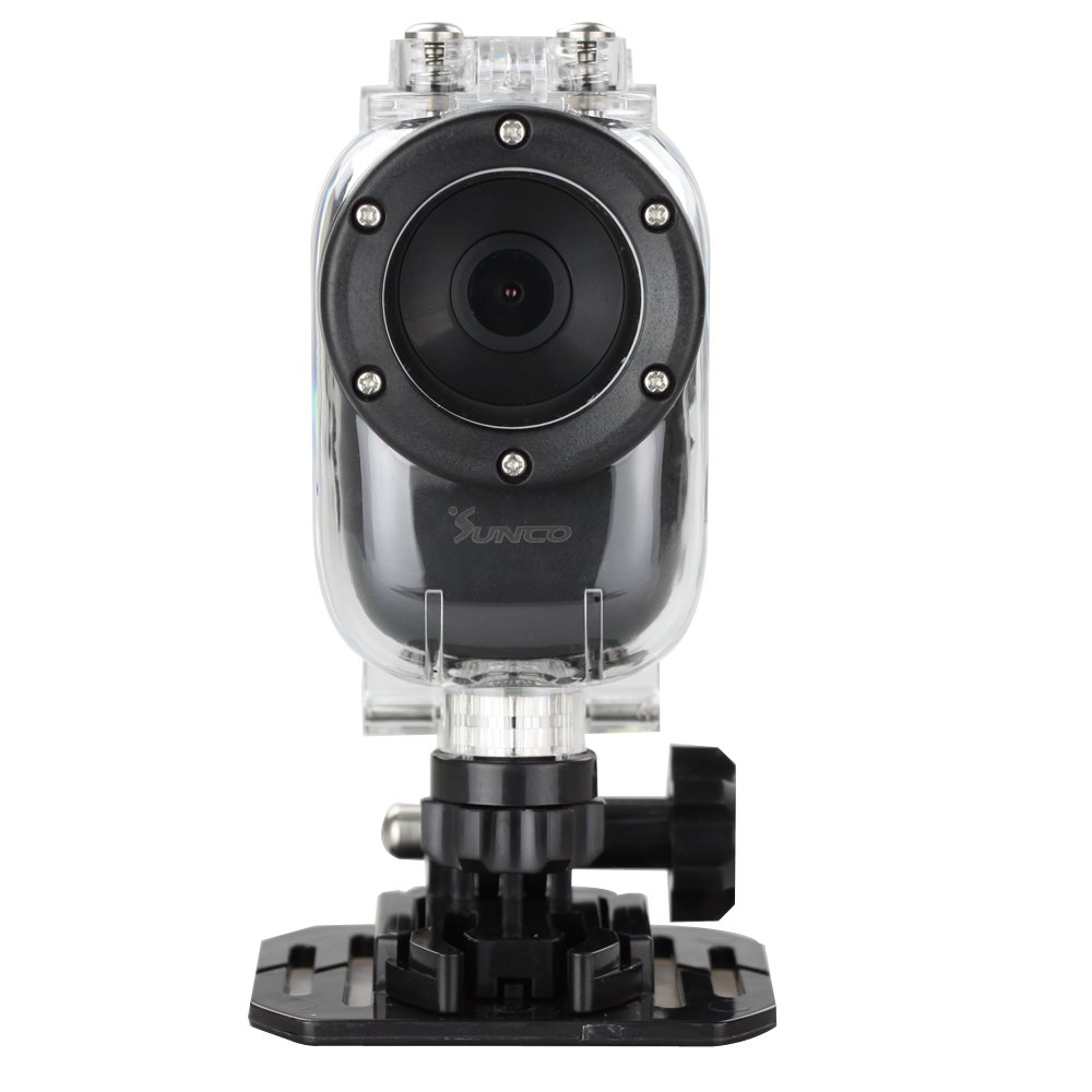 Sunco® Wasserdicht Action , 1920 x 1080p, H.264, 140 Grad WeitwinkelObjektiv, 1.5L TPS (43), 30m W  Kundenbewertung und Beschreibung
