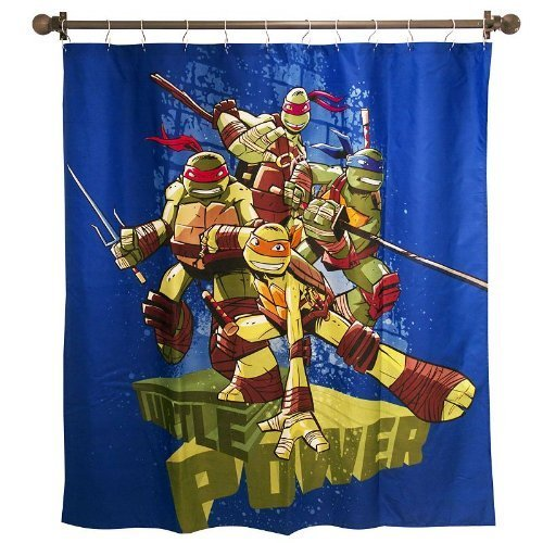 Nickelodeon Teenage Mutant Ninja Turtles Shower Curtain ( 72 inch X 72 inch )