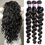 6A Brazilian Virgin Hair 3 Bundle 50G/Pcs Loose wave Human Hair Virgin Hair Extension Unprocessed Brazilian Virgin Hair by KeepYonger