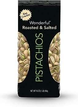 Wonderful Roasted & Salted Pistachios 16-oz Bag