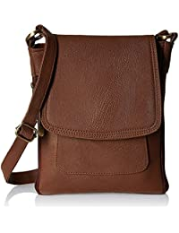 Flora Premium PU Leather Women's And Girl's Cross Body Sling Bag (Dark Brown Color)