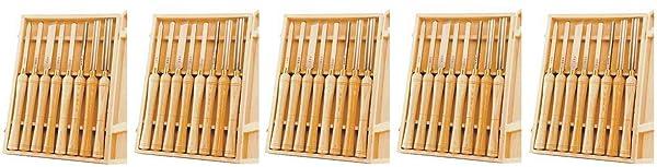 PSI Woodworking LCHSS8 Wood Lathe HSS Chisel Set, 8Piece (5) (Tamaño: 5)