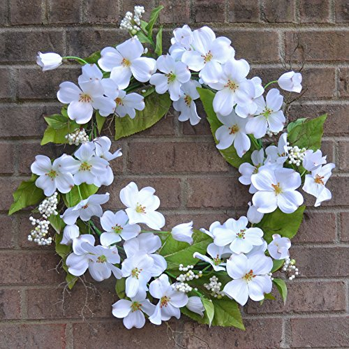 White Dogwood Wreath WR4917