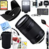 Tamron 18-400mm f/3.5-6.3 Di II VC HLD All-in-One Zoom Lens for Nikon Mount + 64GB Ultimate Filter & Flash Photography Bundle (AFB028N-700) (Tamaño: For Nikon)