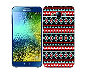 Galaxy Printed 1825 Aztec Patterns Blue Red Hard Cover for Samsung GRAND 2