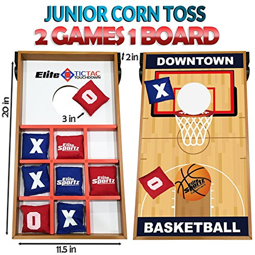 Junior-Basketball-Cornhole-Bean-Bag-Toss-Game-for-Kids-Great-for-Outside-Yard-Kids-Games-Tic-Tac-Toe-and-Cornhole-Party-Games-for-Kids