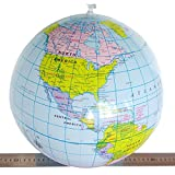 World Globe ,Baomabao 40CM Inflatable Teach Education Geography Toy Map Balloon Beach Ball