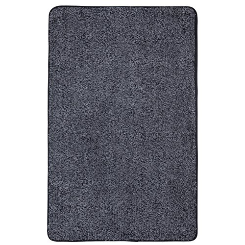 Domani Mudtrap Super Absorbent Indoor Floor Mat With Nonslip Backing, 22-1/2 By 36-Inches, Black/Gray front-208473