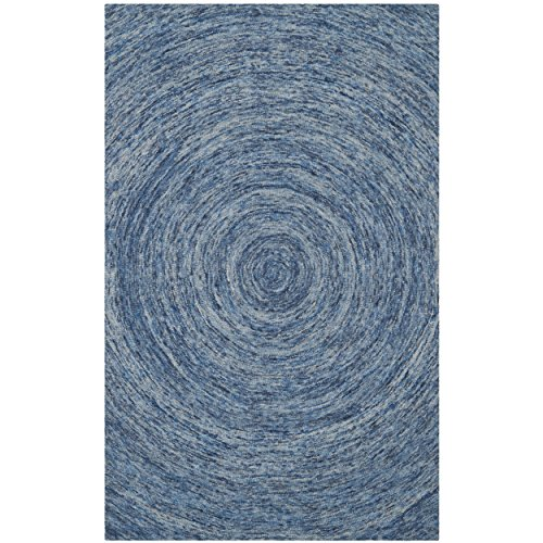 Safavieh Ikat Collection IKT633A Handmade Dark Blue and Multi Wool Area Rug, 4 feet by 6 feet (4' x 6')