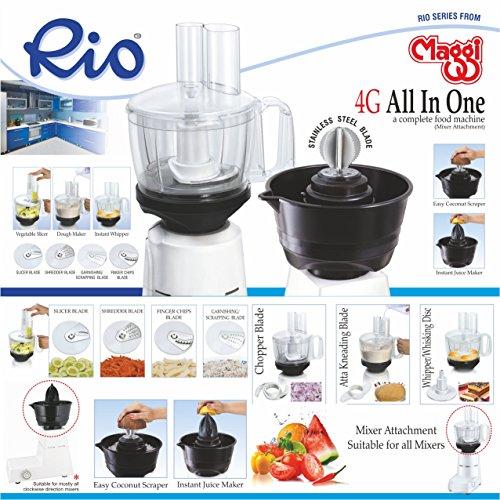 Maggi RIO All In One 4G Food Processor Attachment & Coconut Scrapper For Mixers