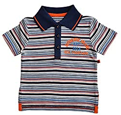 Babeez Baby Boy Yarn dyed Striped Polo T-Shirt to fit height 68 - 74cms (100% Cotton)